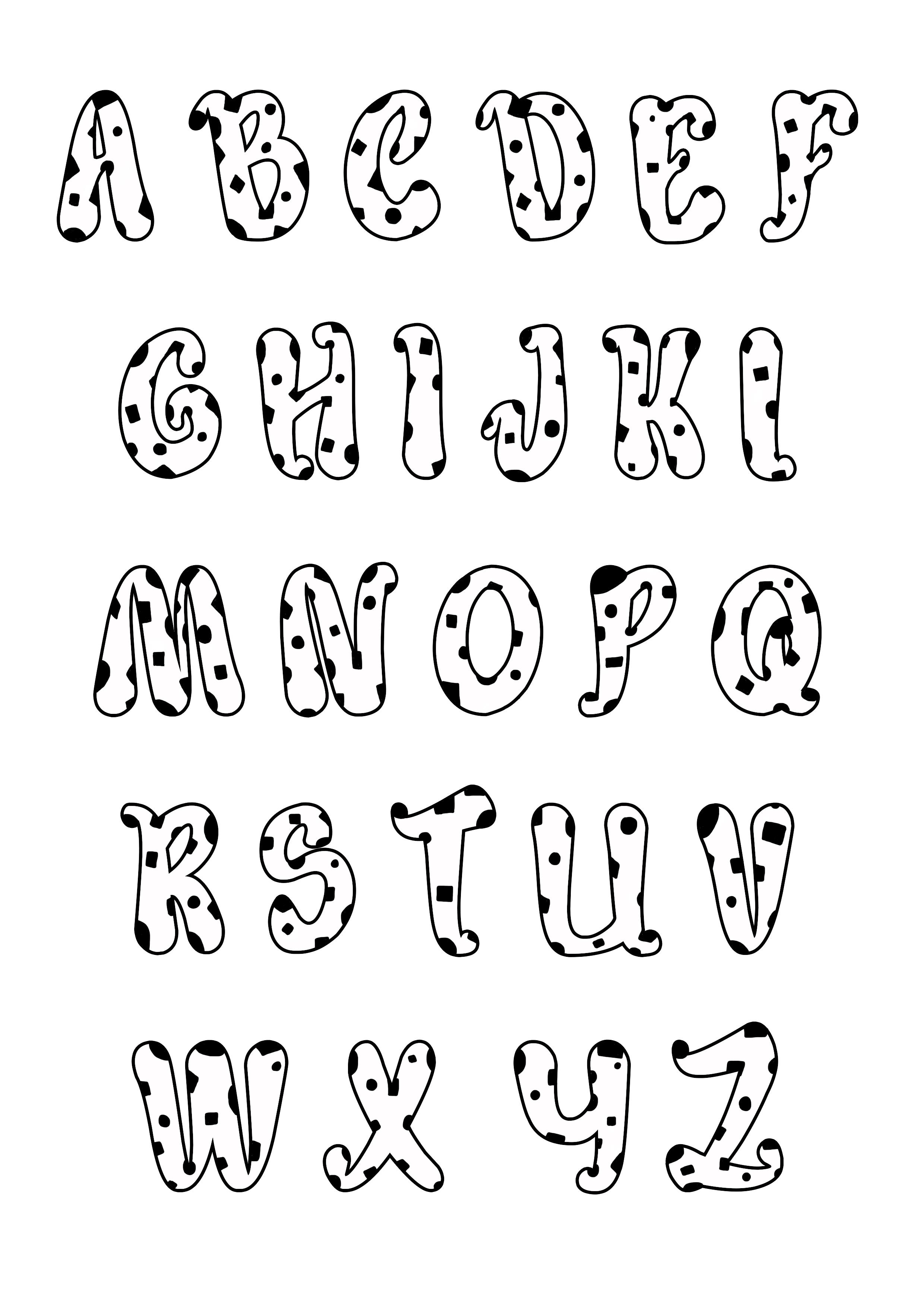plain alphabet letters coloring pages - photo#38